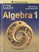 isbn 9781608408146 big ideas math algebra 1 texas. Black Bedroom Furniture Sets. Home Design Ideas