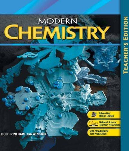 ISBN 9780030735479 - Modern Chemistry Teacher Edition grade 9 6th