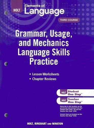 Elements language grammar by holt direct textbook holt elements of language third course grammar usage and mechanics language skills practice grade 9 fandeluxe Choice Image