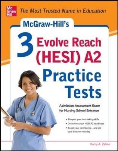 Isbn 9780071800570 3 Evolve Reach Hesi A2 Practice