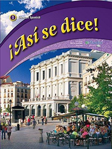 ISBN 9780076604234 As Se Dice Level 1 2012 Spanish