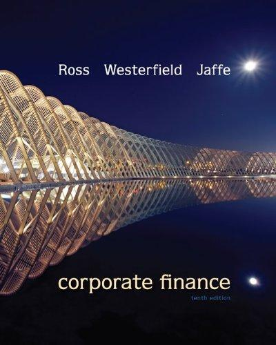 Corporate finance stephen ross 10th edition