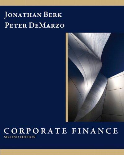 corporate finance berk 2nd edition pdf