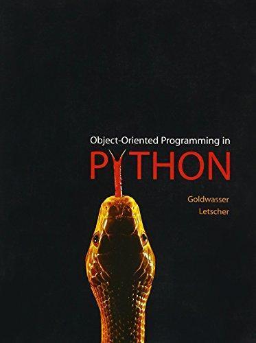 isbn 9780136150312 objectoriented programming in python