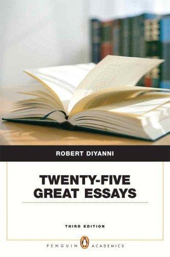 twenty-five great essays 3rd edition