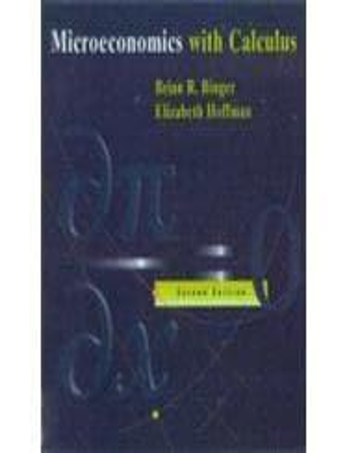 microeconomics with calculus binger hoffman pdf