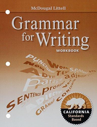 ISBN 9780547141244 Literature Grammar For Writing Workbook