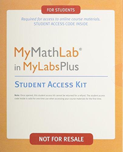 Isbn 9780558928889 Mymathlab Mylabplus Access Kit Custom Student