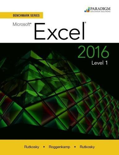 Benchmark Microsoft Excel 2016 Level 1