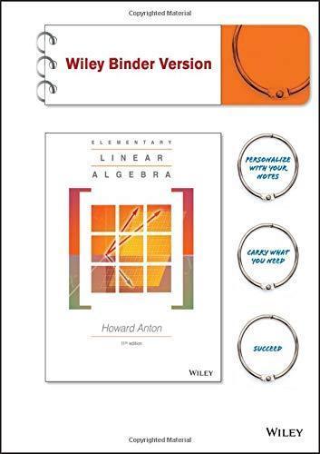 elementary linear algebra textbook pdf