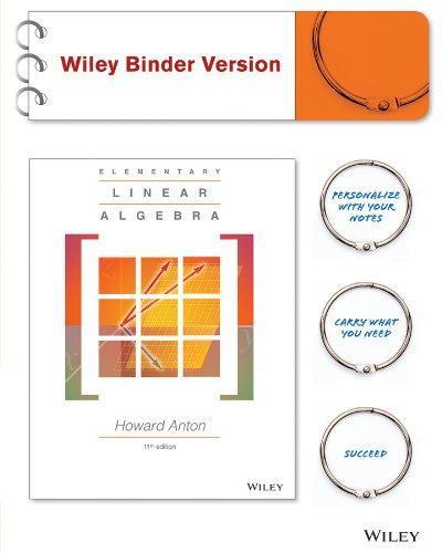 elementary linear algebra 11th edition pdf