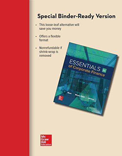 Isbn 9781259718984 loose leaf for essentials of corporate finance isbn 9781259718984 fandeluxe Gallery