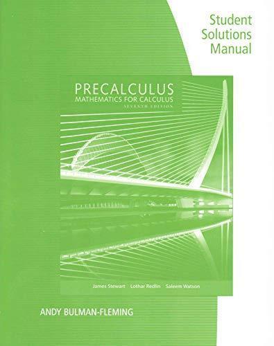 Precalculus Mathematics Calculus By Stewart 7th Edition Direct