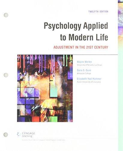 Bundle: Psychology Applied To Modern