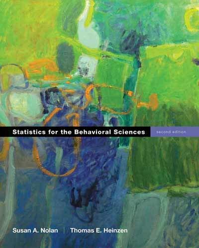 Essentials of statistics for the behavioral sciences nolan