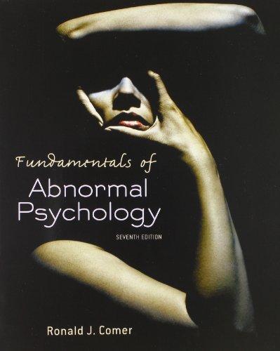 Isbn 9781429295635 Fundamentals Of Abnormal Psychology 7th Edition