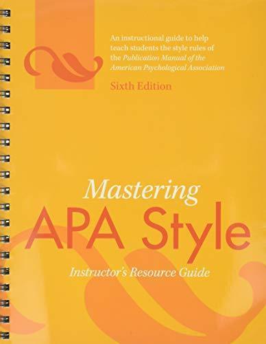 apa publication manual 6th edition online