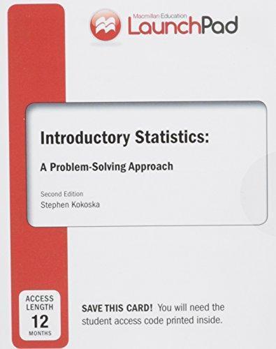 Introductory Statistics A Problem Solving Approach By Stephen Kokoska Pdf