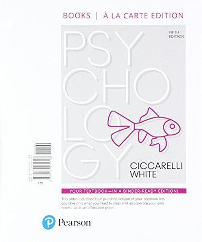 Psychology, Books A La Carte Edition
