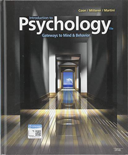Introduction To Psychology : Gateways