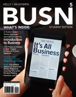 BUSN (2012-2013 ED)(W/COURSEMATE ACCESS CODE) (P)